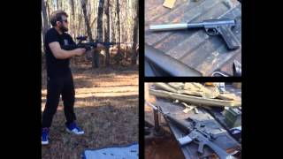 Testing of our .22LR Independence on Full Auto M4/M16 .223/5.56