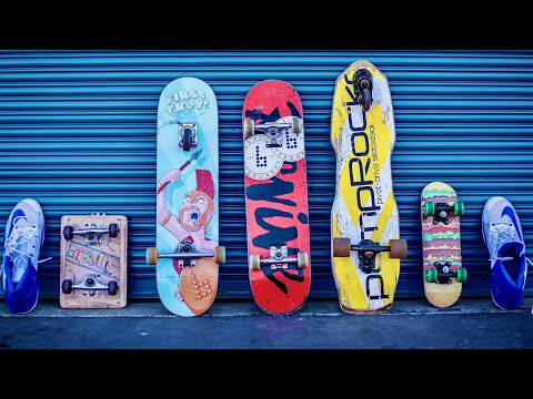 KICKFLIP EVERY WEIRD BOARD FOR CASH CHALLENGE EP. 6 | GIANT SHOES EDITION