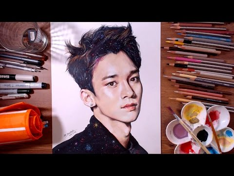 EXO Chen (Kim Jong-dae) - speed drawing | drawholic