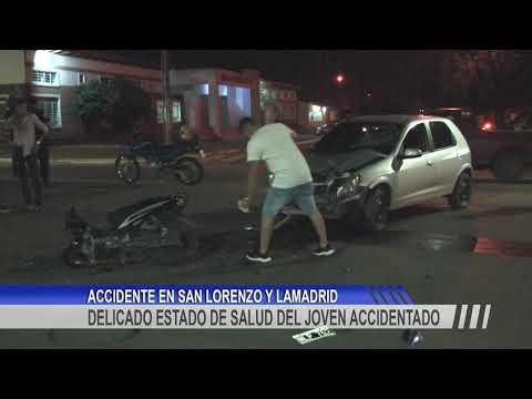 El joven accidentado en Av. San Lorenzo se encuentra en una situación neurológica crítica