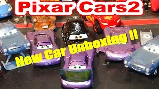 Pixar Cars 2 New Car Unboxing , Holly Shiftwell with Screen, with Lightning McQueen, Mater, Finn McM