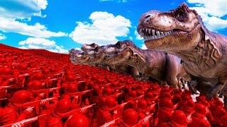 2500 T-REXES vs. US ARMY! (Ultimate Epic Battle Simulator)