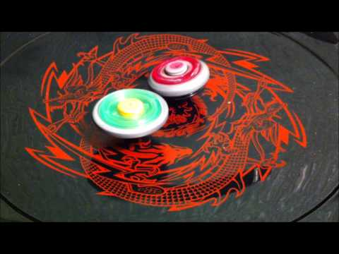 4-Way BEYBLADE BATTLE! Cyber Pegasus VS Flame Libra VS Ray Unicorno VS Rock Aries