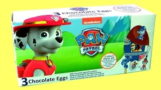 PAW PATROL 3 Eggs Surprise Box with Toys for Kids From Nickelodeon Paw Patrol by FUNTOYS