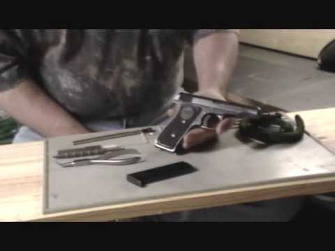 field stripping. Remington 51 pistol. .380/.32