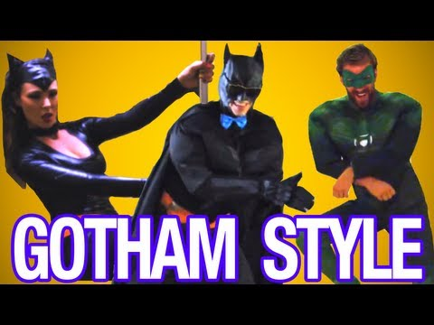 Gotham Style! - Psy - Gangnam Style (강남스타일) M v Parody - Mischief Tube - Christiano Covino video