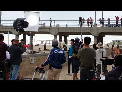 The Heirs filming in Huntington Beach CA, Lee Min Ho, Park Shin Hye