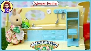 Sylvanian Families Calico Critters Campervan and Red Car Saloon Unboxing Review - Kids Toys