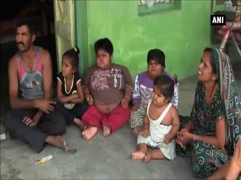 Family with three obese kids struggle to meet their daily needs