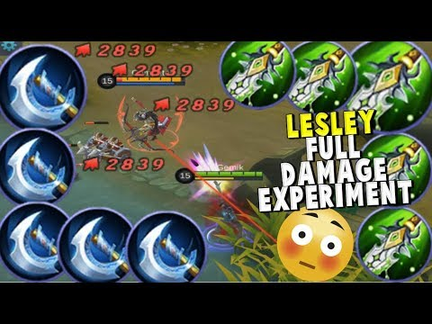 LESLEY FULL DAMAGE BUILD – CAN SHE ONE SHOT A HERO ?? - Mobile Legends