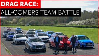DRAG RACE *FUN*. RS3, M140i, Golf R, Focus RS, A45 AMG, i30N, Impreza. Hot Hatch w/ Tiff Needell