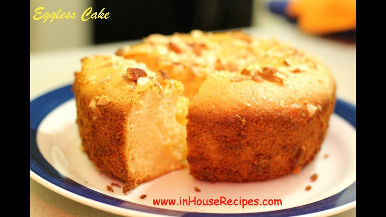 Eggless Cake In Oven