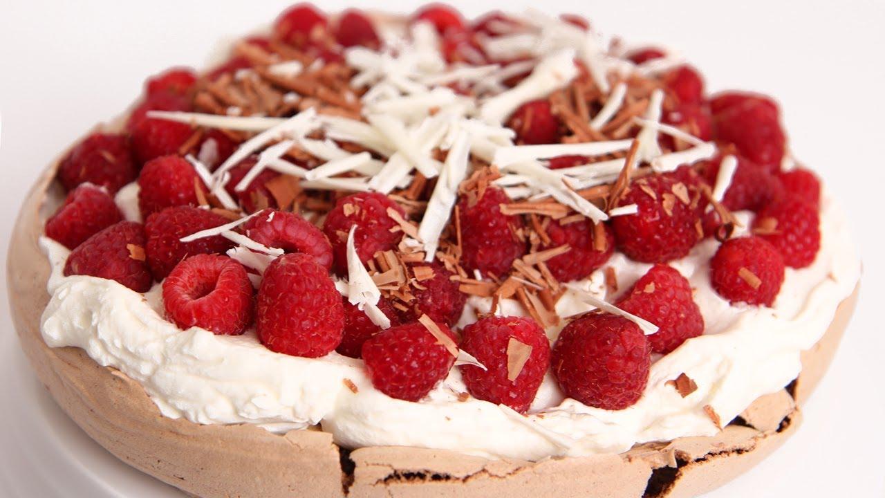Chocolate Pavlova Recipe - Laura Vitale - Laura in the Kitchen Episode ...