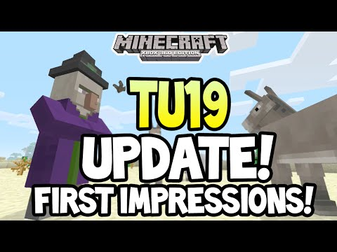 Minecraft Xbox 360 One TITLE UPDATE 19 RELEASED + FIRST IMPRESSIONS GAMEPLAY