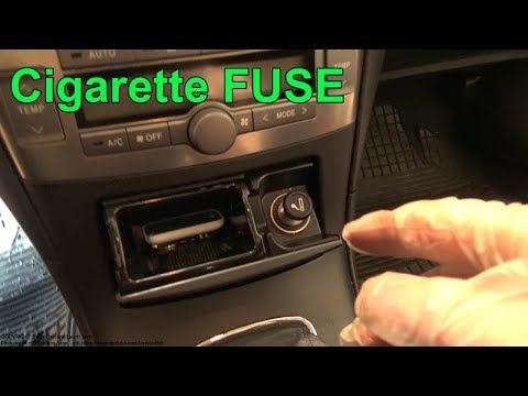 How to replace Cigarette lighter fuse Toyota Avensis. Years 2002 to 2009