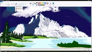Making a Bob Ross Painting in MICROSOFT PAINT! |low Quality|