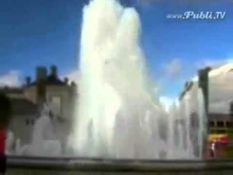 Оседлал фонтан.