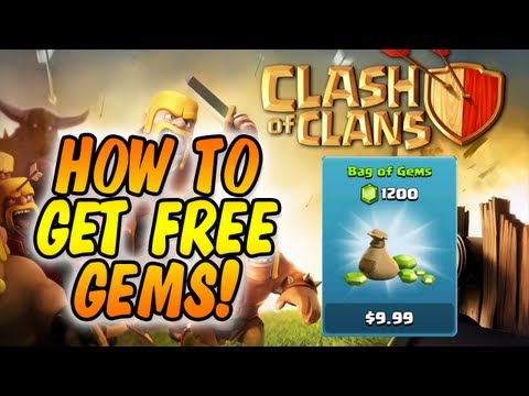 Clash of Clans : HOW TO GET FREE GEMS (Method #1) (USA)