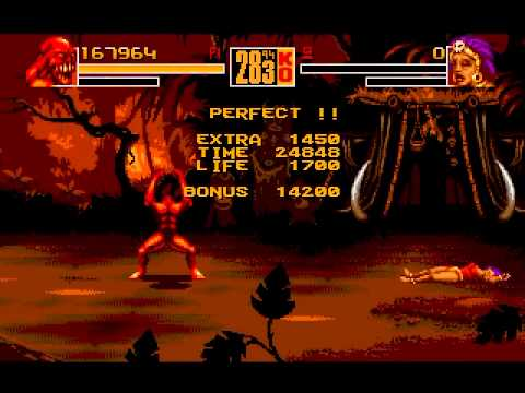 Shaq Fu (Genesis) Gameplay: Beast (Part 1)