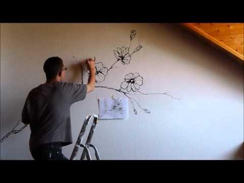 Картины обоями на стене своими руками 115