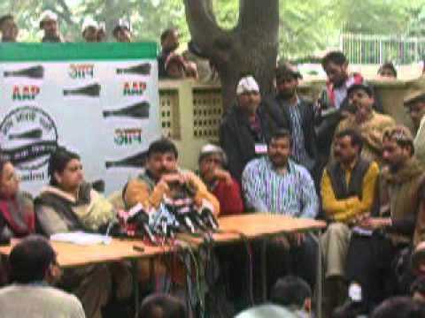 Sanjay Singh of AAP address Press Conference   DSCN3393