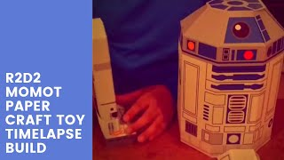 R2D2 Momot Paper Craft Toy Timelapse Build