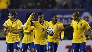 Brazil vs Peru 2-1 All Goals Goals Copa America 2015  HD