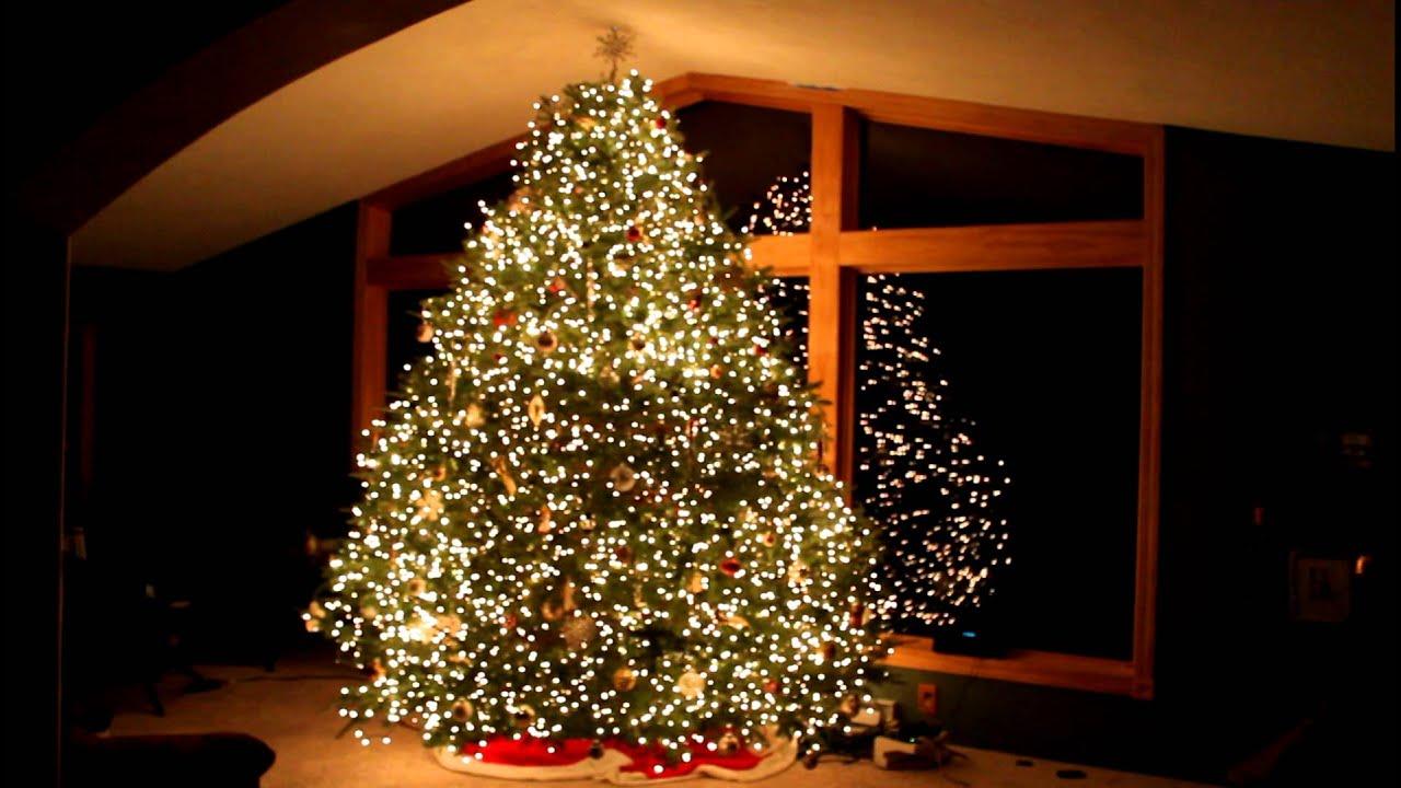 Amazing grace christmas tree light show techno wawra