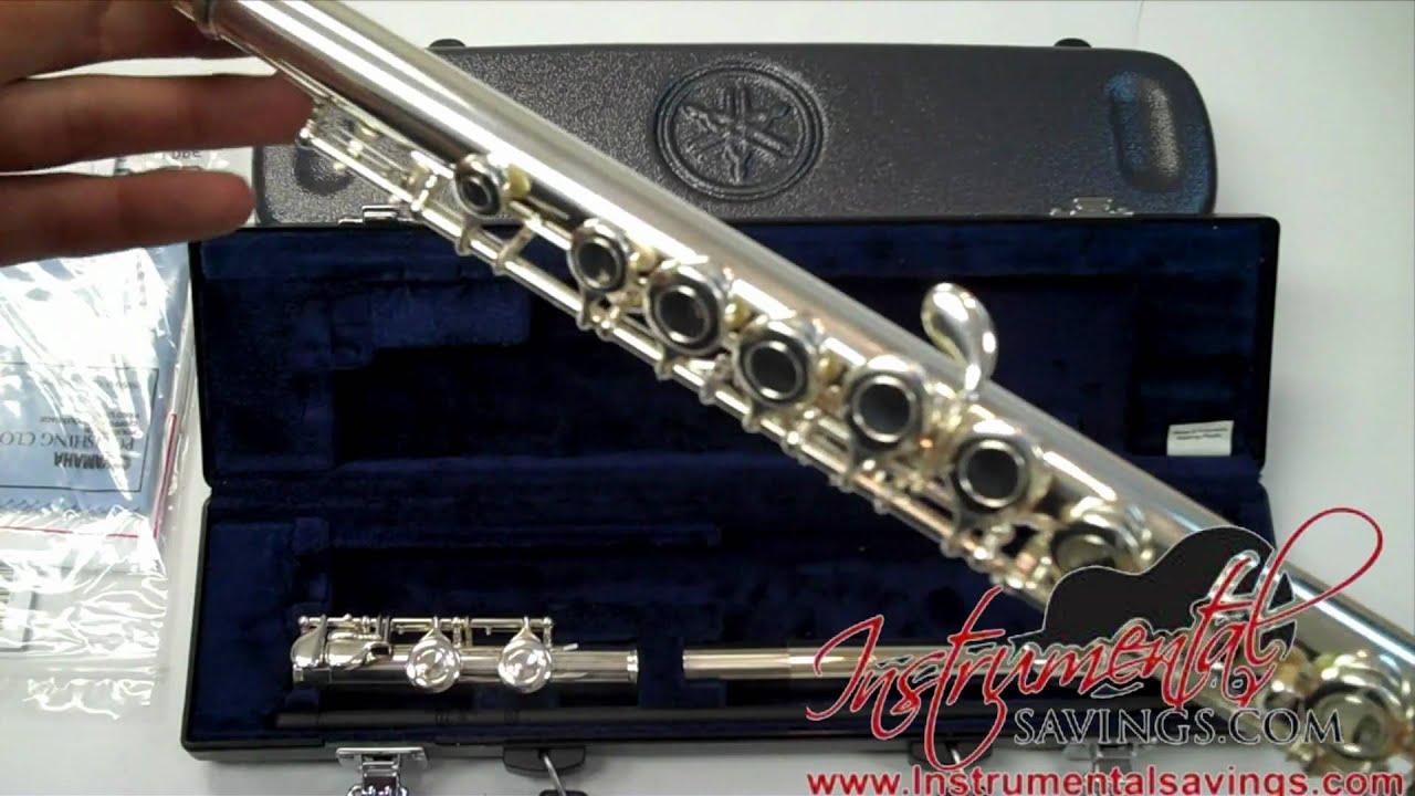 Yamaha flute yfl 221 yfl 200ad student flute youtube for Yamaha flute 222