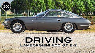 LAMBORGHINI 400 GT 2+2 1967 - Modest test drive - Engine sound | SCC TV
