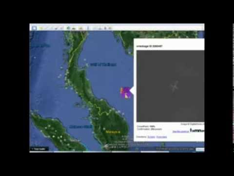 Malaysia Airlines plane MH370 on Tomnod - 204 people have