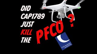 CAA Cap 1789: Death of Drone PFCO in UK?