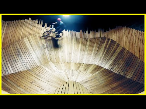 Cranx Indoor Mountain Bike Park - Syracuse NY - Phil Kmetz - MTB Jump line