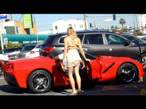 Girl Pick up Guys in a Corvette Gold Digger Prank!