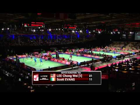 Day 4 - 2014 BWF World Championships - Lee Chong Wei vs Scott Evans
