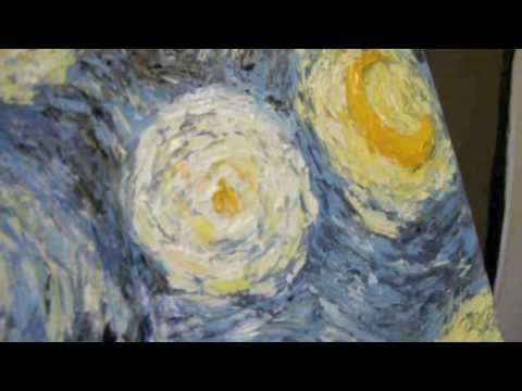 Painting Process Starry Night Van Gogh Inspired Reproduction