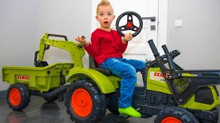 Почему так получилось? FUNNY BABY Unboxing And Assembling The POWER WHEEL Ride On Tractor