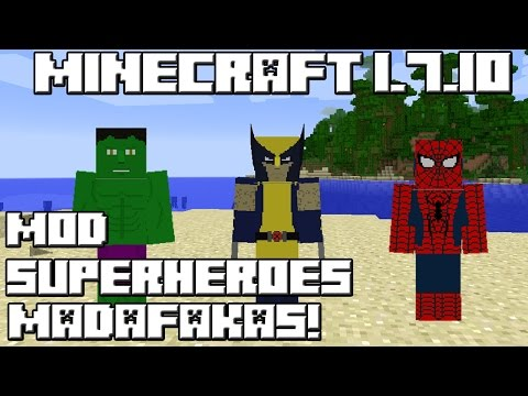 Minecraft 1.7.10 MOD SUPERHEROES MADAFAKAS