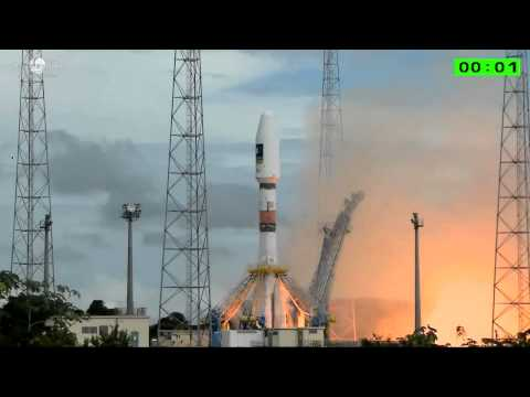 Launch of Arianespace Soyuz VS09 carrying #Galileo GPS sats 'Doresa' & 'Milena'