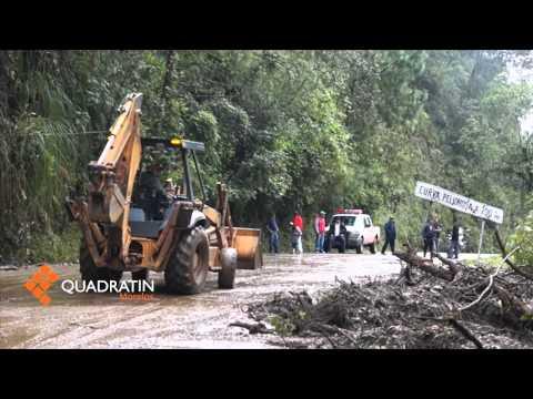 Desbordamientos y deslaves en Morelos por lluvias