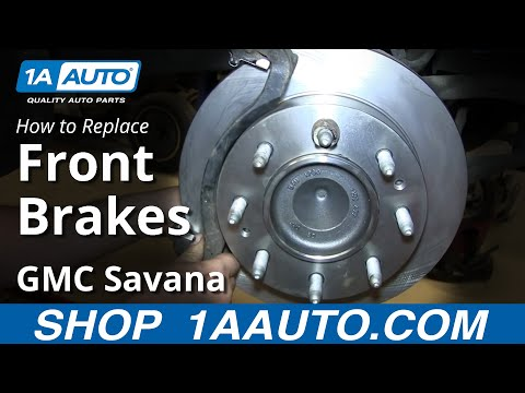 How To replace Install Front Disc Brakes Chevy Express GMC Savana 2500