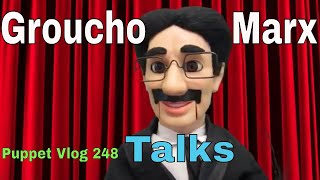 Puppet Groucho Marx Ventriloquist Dummy Talks about His Life Vlog 248