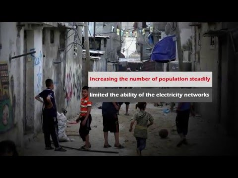 Electricity generation project by solar energy for needy families in Gaza Strip