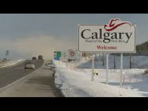Rocky Mountain House to Calgary, Alberta - Winter - Time Lapse