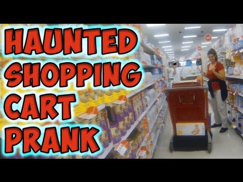 Haunted Shopping Cart Prank