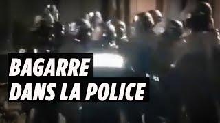 """Gilets jaunes : un policier frappe un gradé pendant """"l'acte 15"""""""