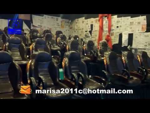 India 24 seats hydraulic 5D cinema project test video