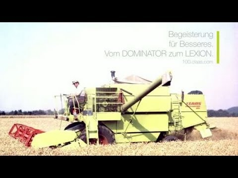Begeisterung für Besseres. Vom DOMINATOR zum LEXION. // 100 Jahre CLAAS // 100.claas.com