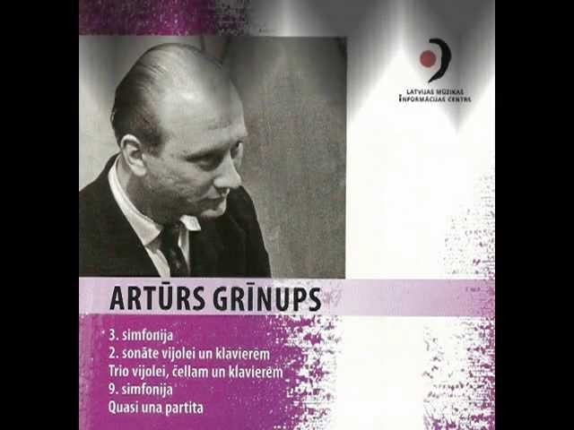 PIANO TRIO by Latvian composer Arturs GRINUPS;  2nd mvt
