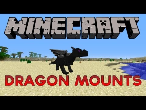 Minecraft 1.2.5 - Dragon Mounts Mod (Ender Egg. Flyable Dragons and more!)